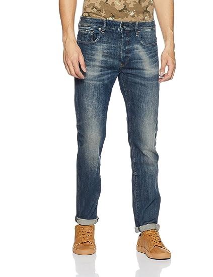 4f0540cc720 G-Star Men's 3301 Slim Jeans, Blue (Dark Aged Antic), W36/L32:  Amazon.co.uk: Clothing
