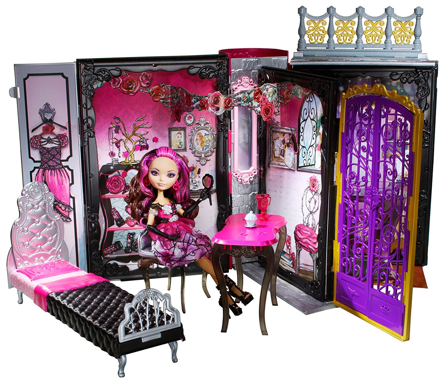 Amazing Ever After High Thronecoming Briar Beauty Doll And Furniture Set Discontinued By Manufacturer Machost Co Dining Chair Design Ideas Machostcouk