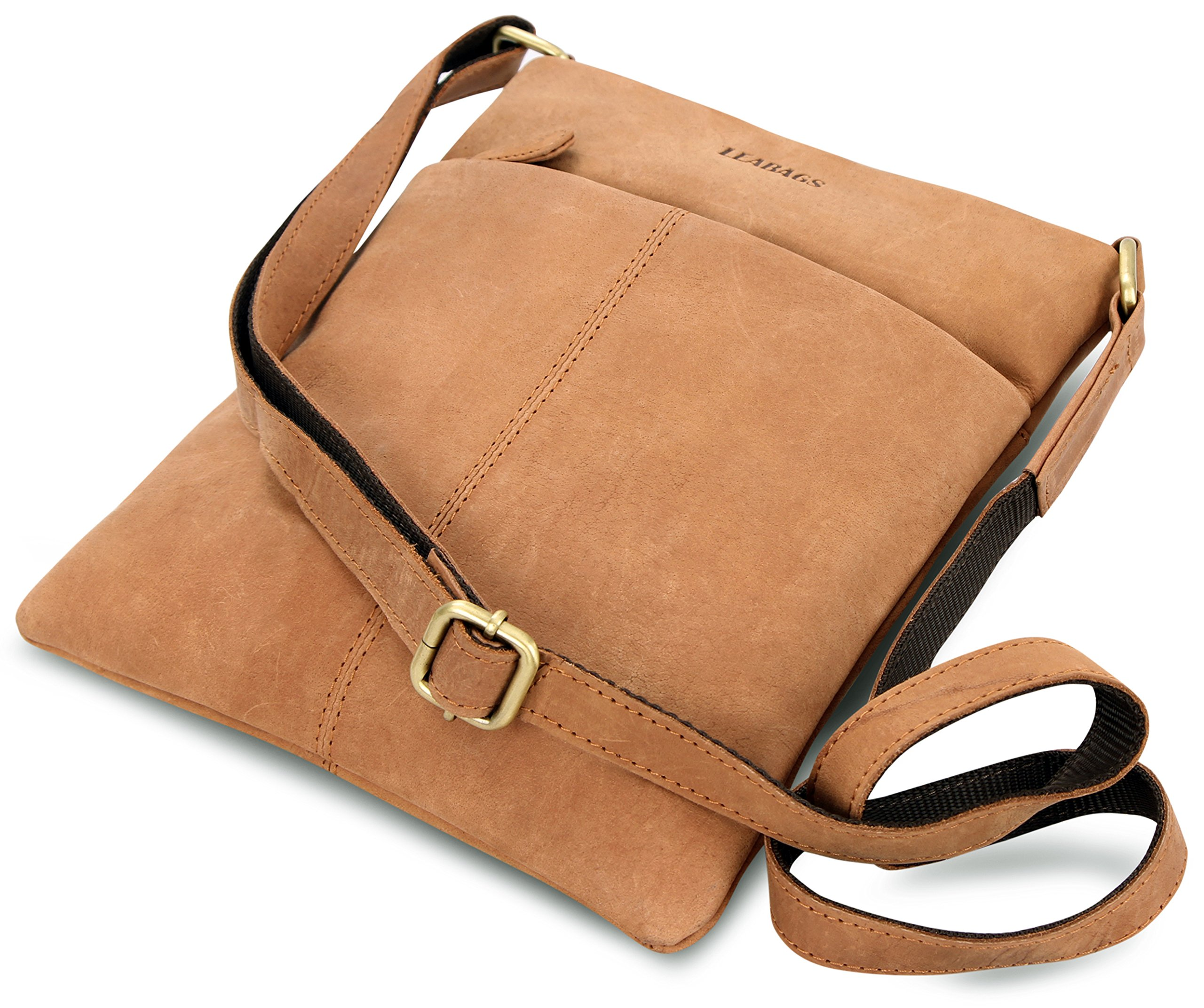 LEABAGS Seattle genuine buffalo leather crossbody bag in vintage style - Brown by LEABAGS (Image #8)