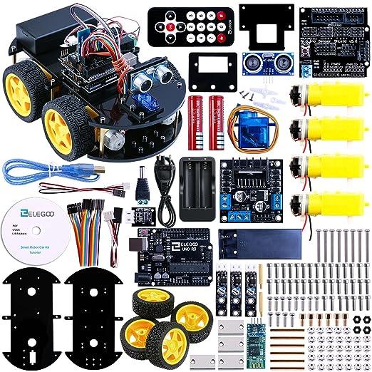 54 opinioni per Elegoo UNO R3 per Arduino Progetto di una Piccola Robot Auto Car V1.0 con