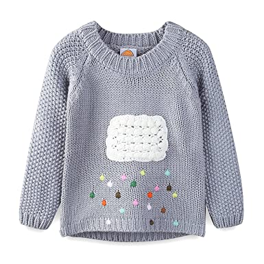 ee08fde53dd6 Amazon.com  Mud Kingdom Little Girls Sweaters Pullover Cute Cloud ...