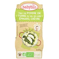 Babybio Petit Bol Légumes Trio de Pomme de Terre du Val de Loire Epinard Chèvre 8+ Mois 400 g - Lot de 3