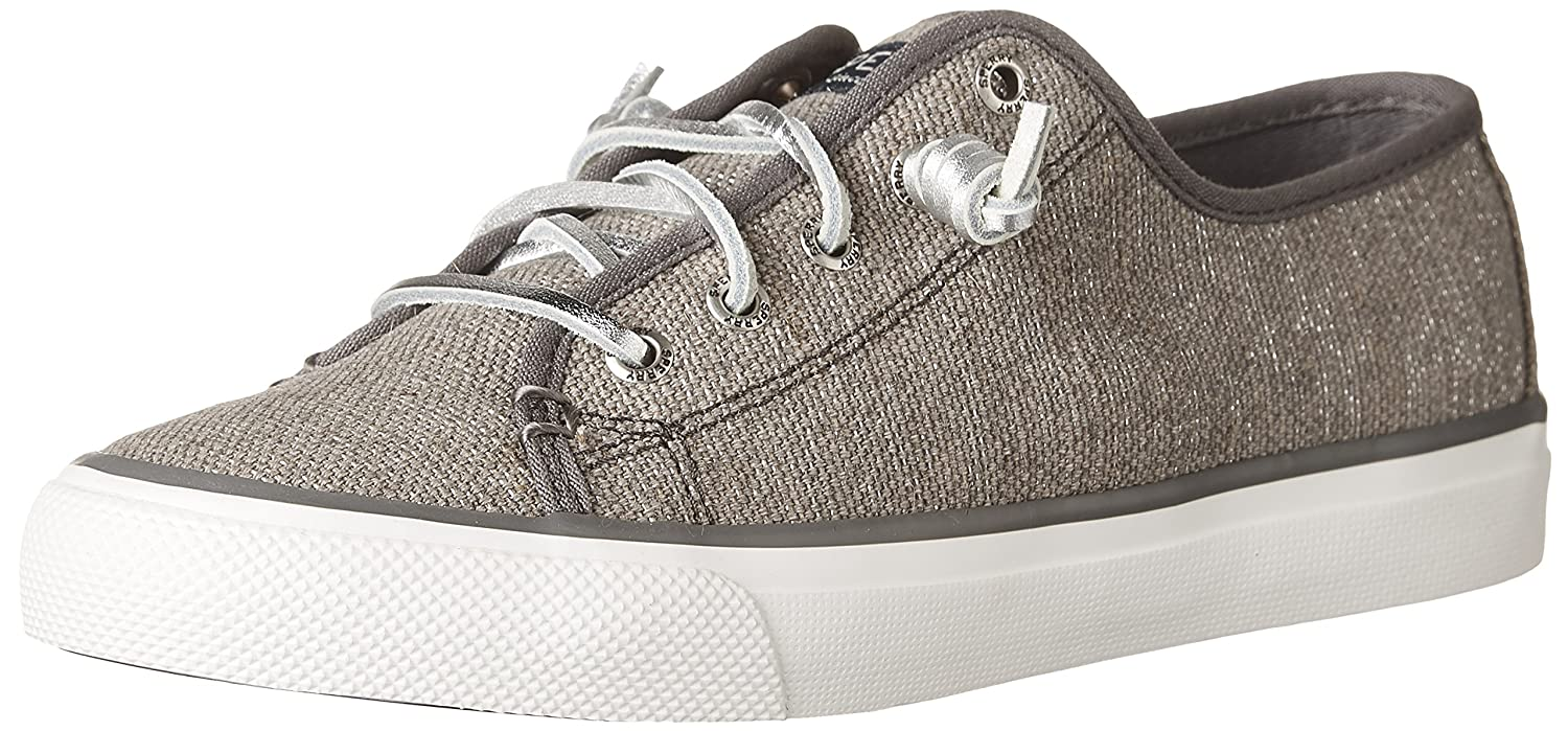 Sperry Top-Sider Women's Seacoast Striped Oxford Fashion Sneaker B01N1U64FN 6.5 B(M) US|Dark Grey/Heavy Canvas