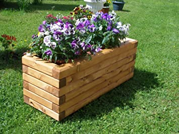 dkbees extra large trough wooden planter box planting box plant containers wooden frame wooden garden - Wooden Planter Boxes