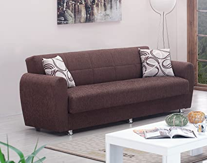 Beautiful BEYAN Boston Collection Modern Convertible Folding Sofa Bed With Storage  Space, Includes 2 Pillows,