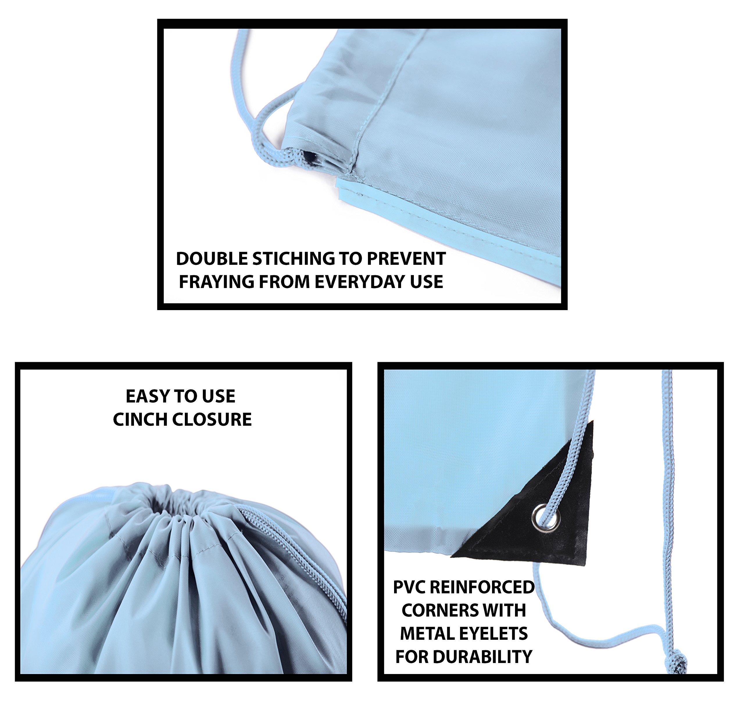 Mato & Hash Drawstring Bulk Bags Cinch Sacks Backpack Pull String Bags   15 Colors   1PK-100PK Available by Mato & Hash (Image #4)