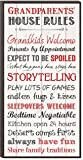 P Graham Dunn Grandparents House Rules 12 x 6 Mounted Print Decorative Wall Art Sign Plaque