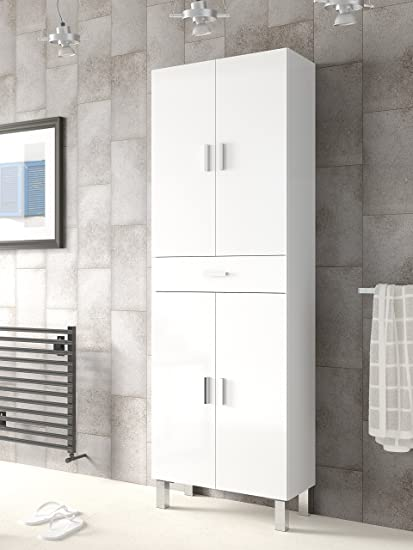 Mueble de baño o aseo con dos puertas superiores e inferiores ...