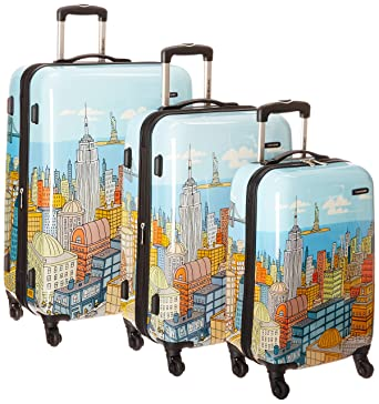 Samsonite Nyc Cityscapes 3 Piece Set 20/24/28, Blue Print, One