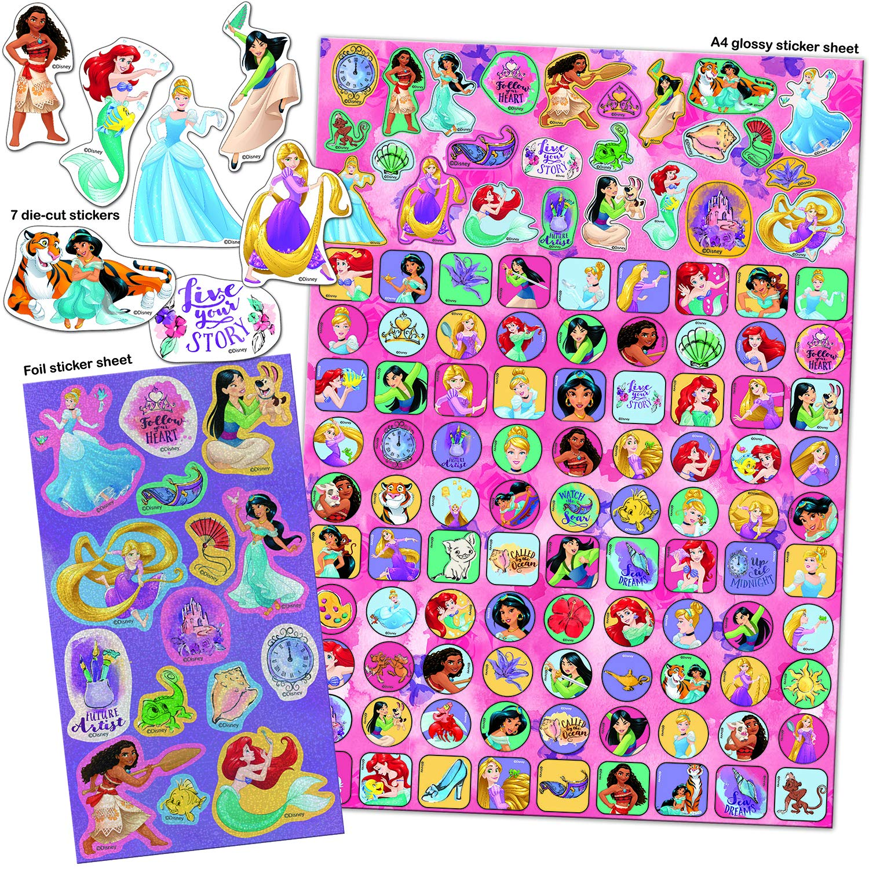 Paper Projects 9124370 Disney Princess Mega Color Rosa y Morado Pegatina