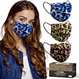 Cheetah Mask, Leopard disposable face masks 3-Ply Earloop for Adult Size Women, Breathable Fashionable Comfortable Cheetah Pr