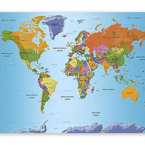 Weltkarte Mit Kontinenten Landkarten Kontinente Weltkarte