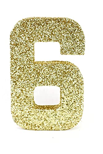 Amazoncom Large Gold Glitter 8 Number Six 6 Prop For