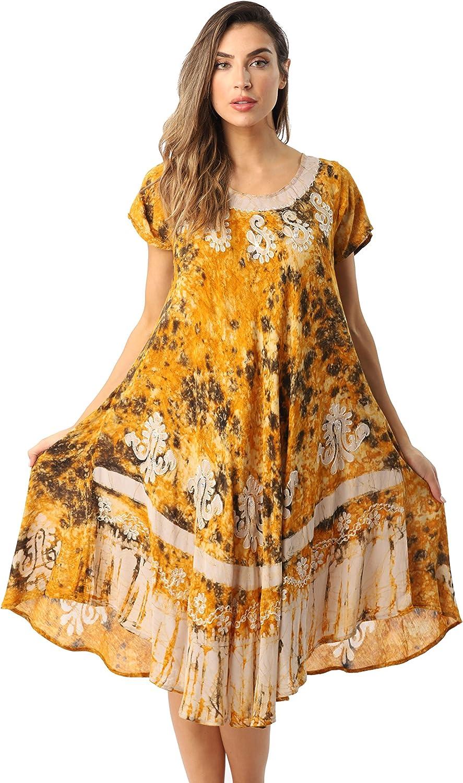 Riviera Sun Batik Tie Dye Summer Dress Beach Cover Up