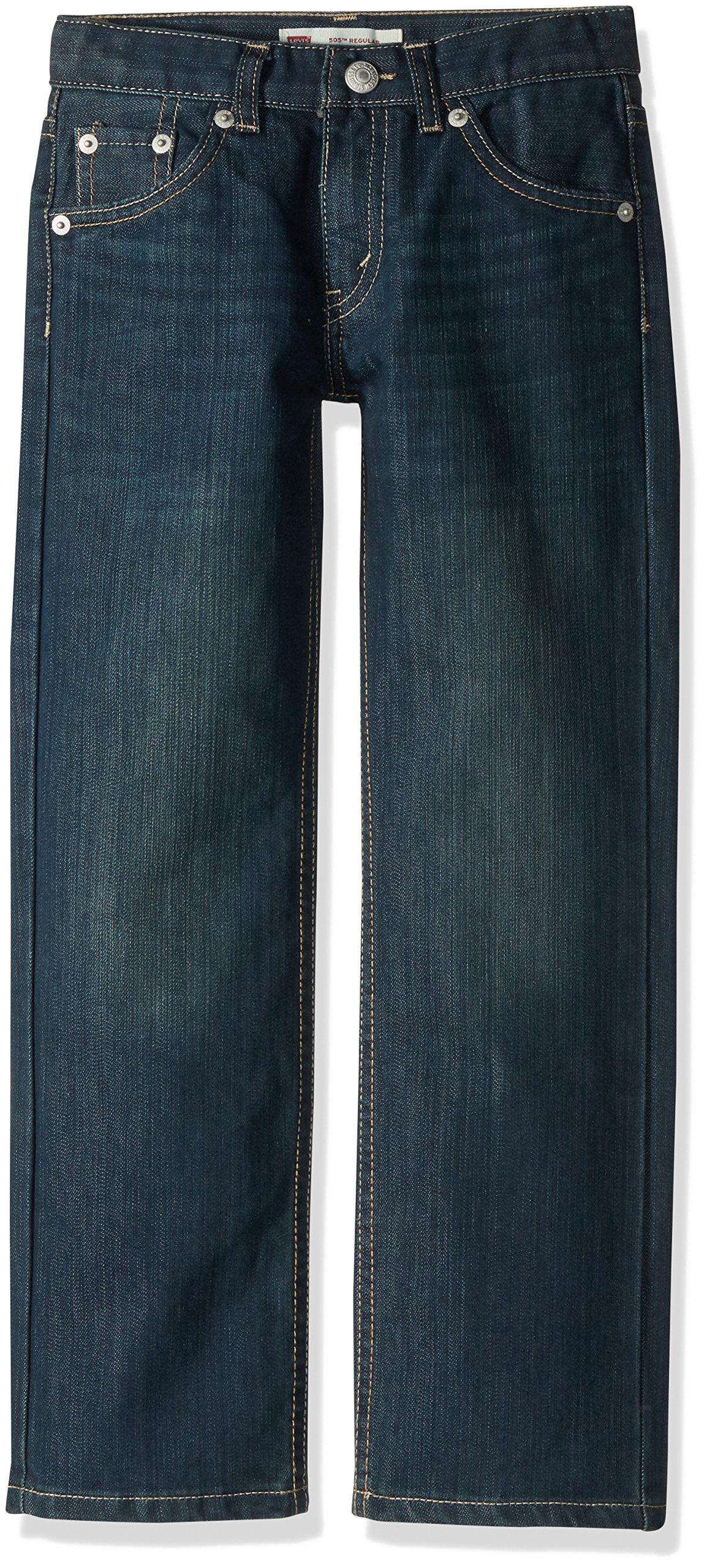 Levi's Boys' 505 Regular Fit Jeans, Cash, 8