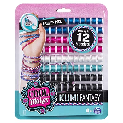 Cool Maker - KumiFantasy Fashion Pack, Makes Up to 12 Bracelets with the KumiKreator, for Ages 8 and Up: Toys & Games