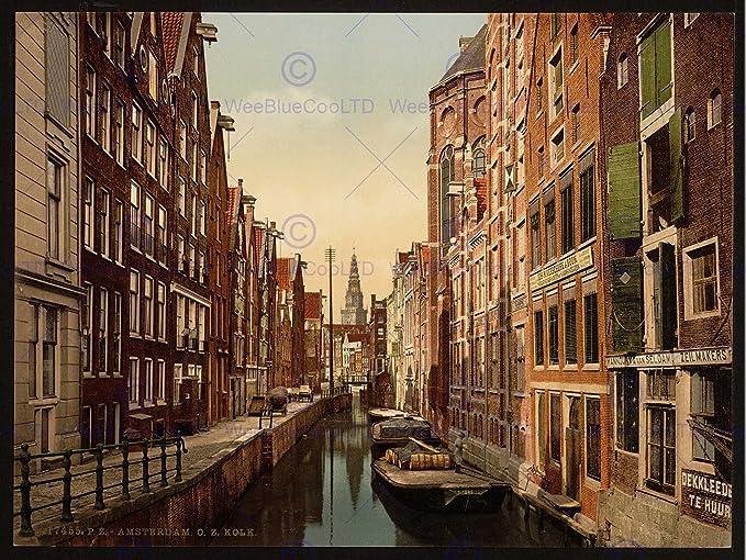 Amazon.com: The Art Stop Photo Vintage Cityscape Amsterdam