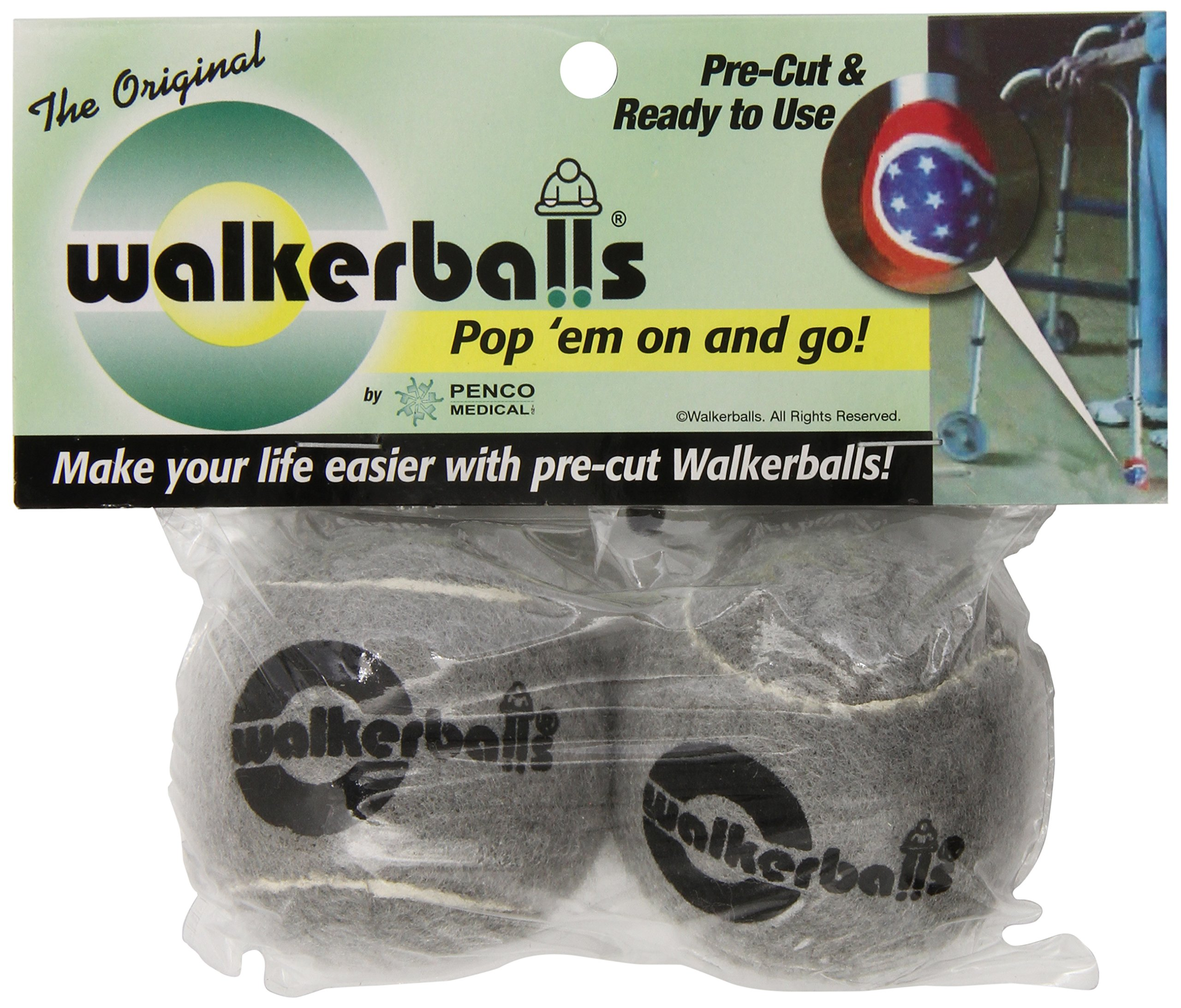 Penco Pwb0012gr Walker Balls, Gray , 2count  (Pack of 12)