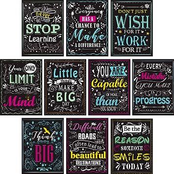 Amazon.com: Blulu - 10 pósteres de pared motivacionales para ...