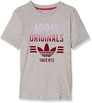 Adidas J Ft tee G Camiseta, Niña, Gris (Brgrin/Rosuni), 5-6 Años: Amazon.es: Deportes y aire libre