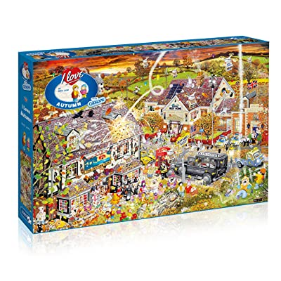 Gibsons Puzzle: 1000 I Love Autumn: Toys & Games