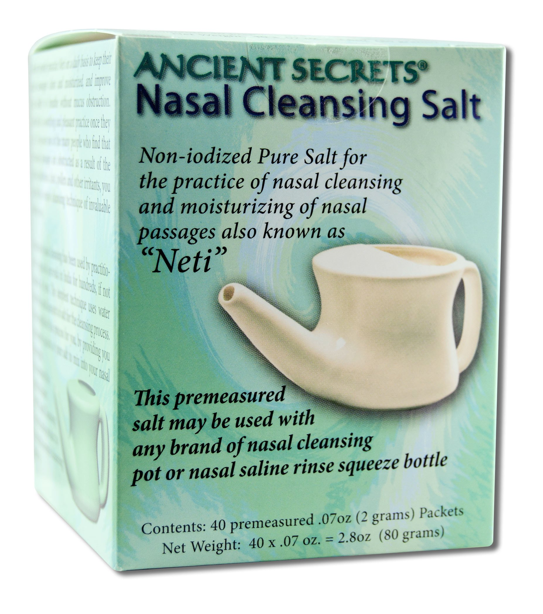Nasal Cleansing Salt Packets 40 PKT (pack of 3)