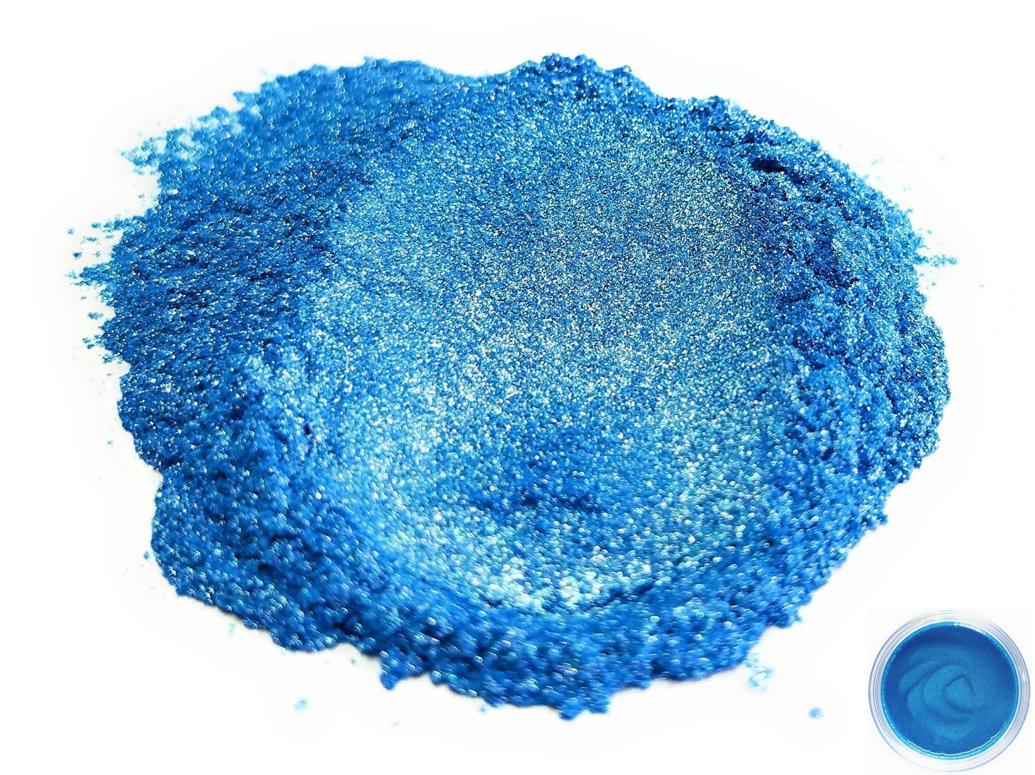 "Mica Powder Pigment ""Angel Blue"" (50g) Multipurpose DIY Arts and Crafts Additive | Natural Bath Bombs, Resin, Paint, Epoxy, Soap, Nail Polish, Lip Balm"