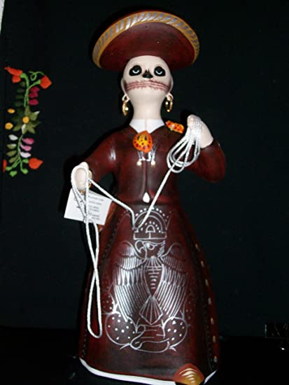 Original Lupita Mexican Doll Hand Painted Authentic Art Catrina