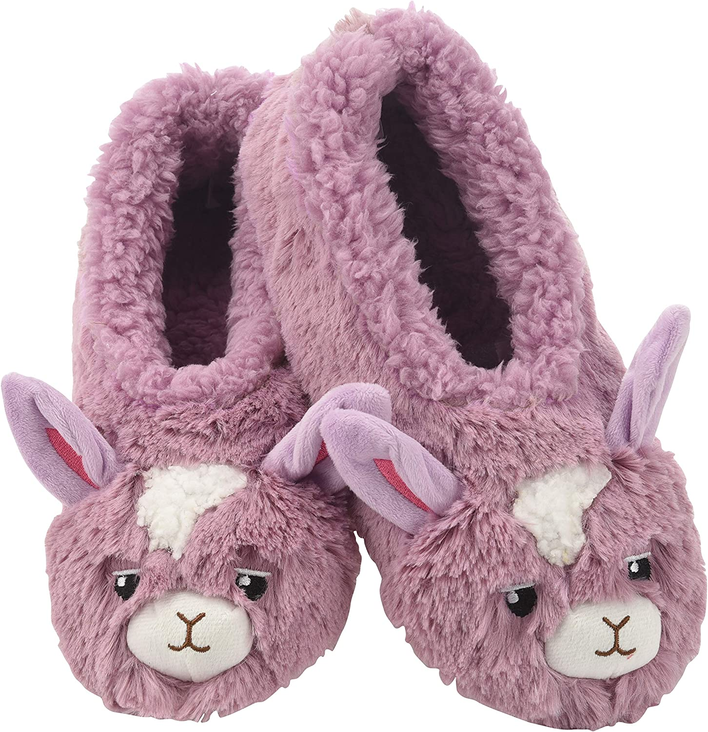 Snoozies Womens Slippers Furry Foot Pals - Animal Slippers for Women - Llama