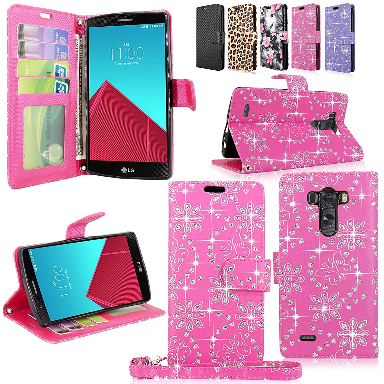 LG Stylo Case Cellularvilla Pink glitter Image 1