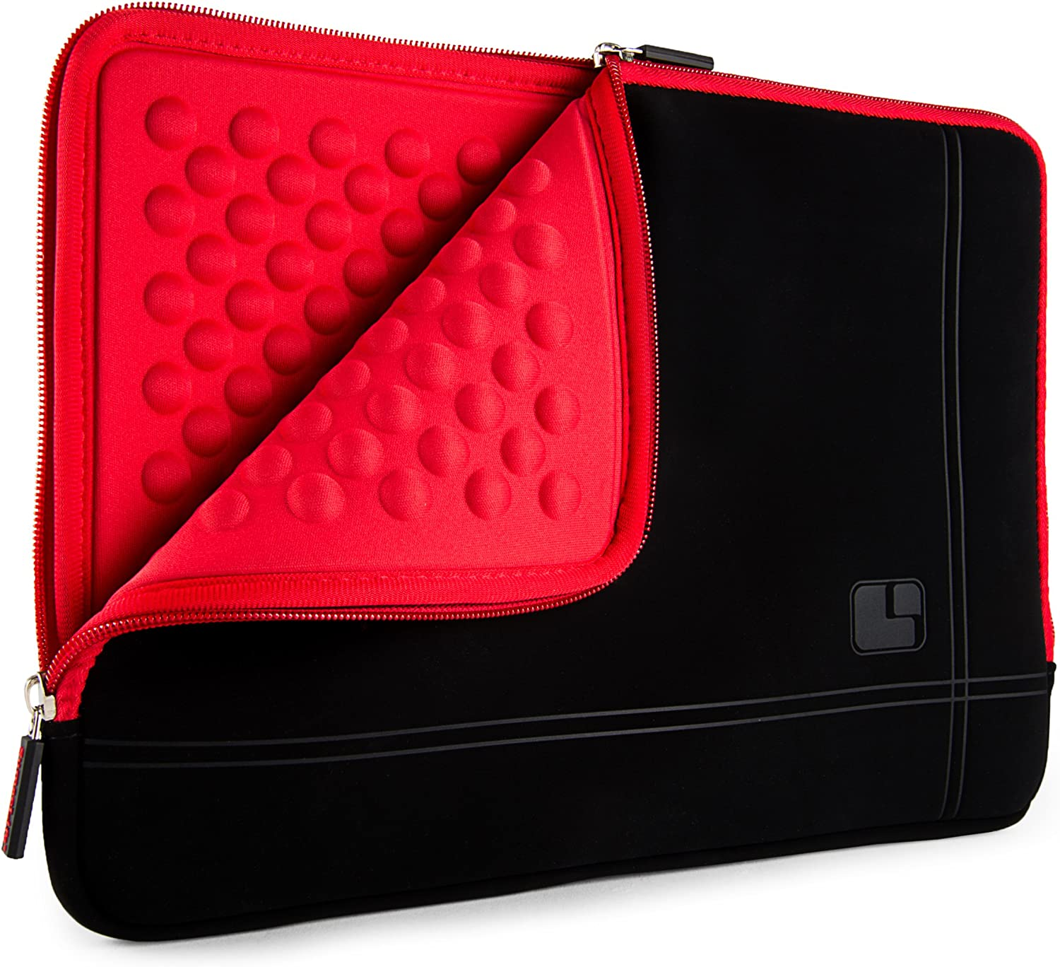 SumacLife 15.6inch Shock Absorbing Red Laptop Sleeve Suitable Dell Inspiron, Latitude, Precision, Vostro, XPS, G3 15