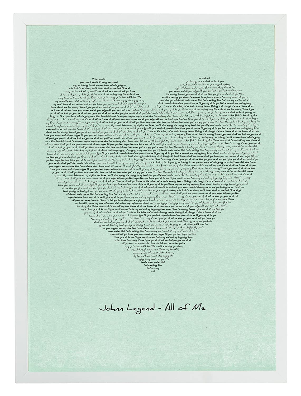 MixPixie Typographic Lyrics Print-John Legend All of Me