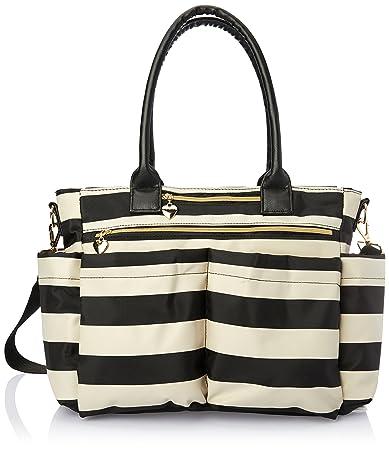 Amazon.com   Mom s Chic Black and White Diaper Bag Tote by Emma and ... 9398fc55e8