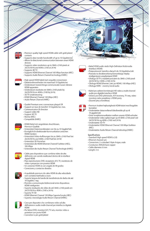 Net Solutions & # x2728 amp; # x2728; Cable HDMI Premium de alta ...