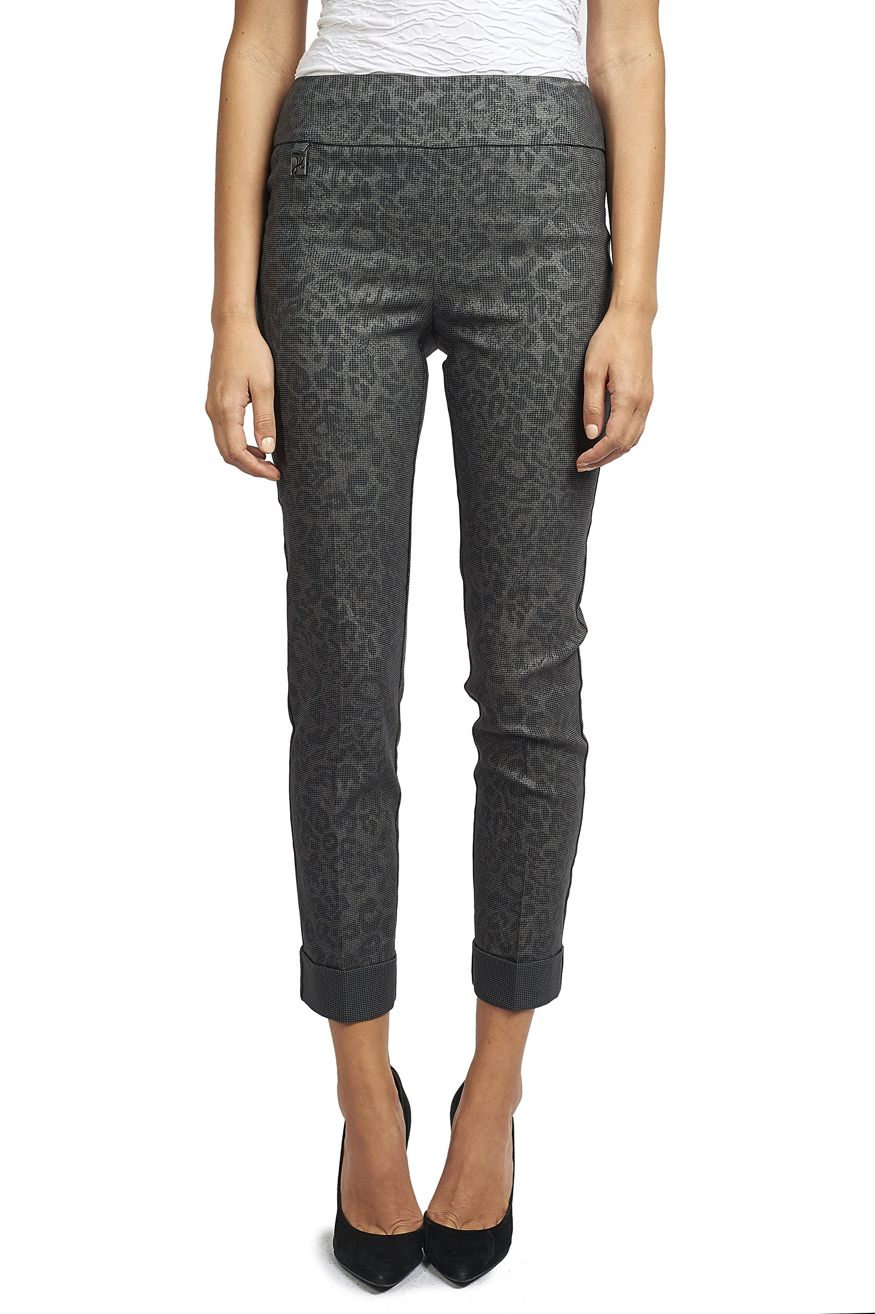 Joseph Ribkoff Printed Twill Ankle Length Pant Style 173589 - Size 6 by Joseph Ribkoff