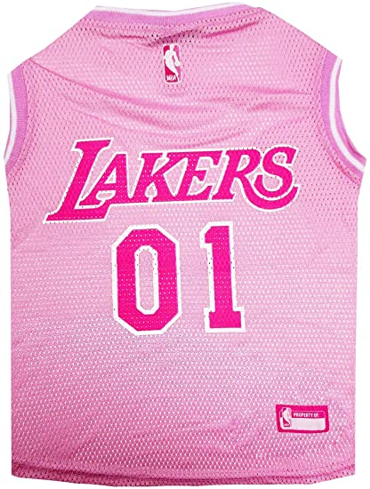 5cb03375db80 Amazon.com   Pets First La Lakers Pink Jersey