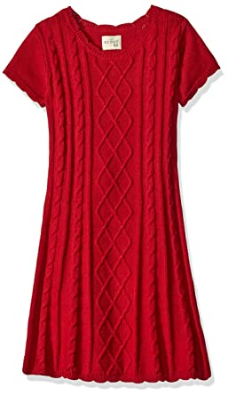Amazon.com: Scout   Ro Little Girls' Cable-Knit Sweater Dress, Red ...