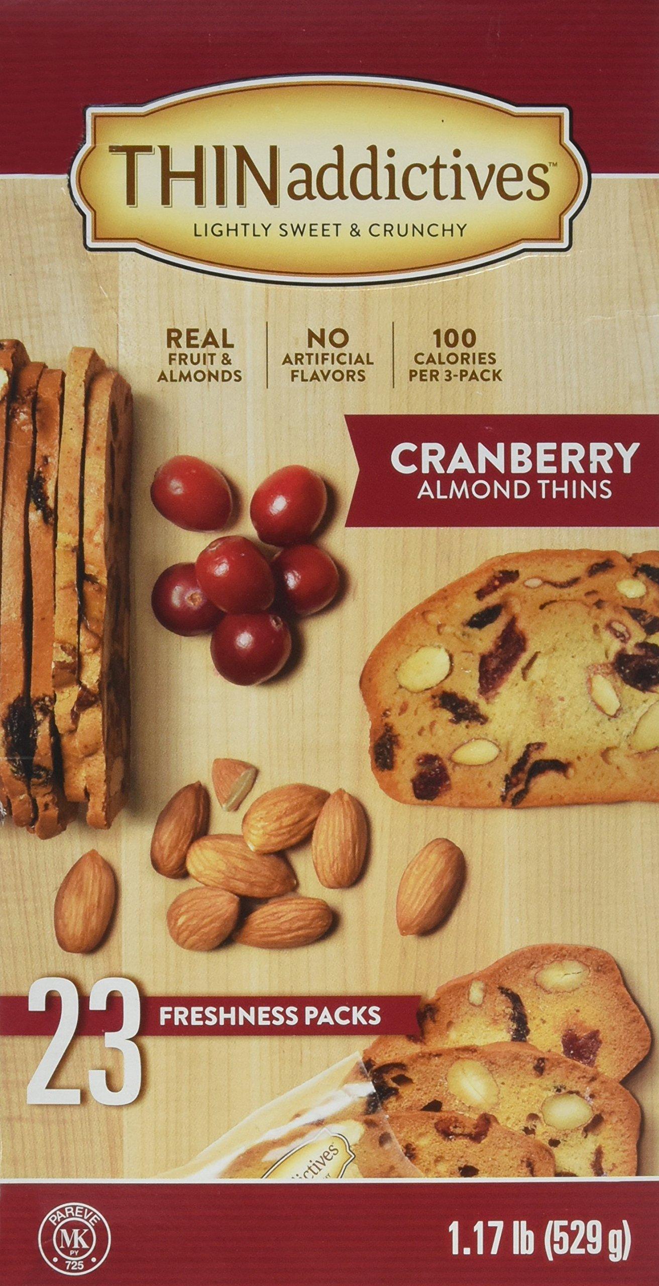 Thin addictives Cranberry Almond Thins (23 pks) by THINADDICTIVES
