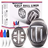 Champkey Premium Golf Ball Liner |Professional Golf Ball Alignment Tools | 4 Ball Markers & 3 Pens Included