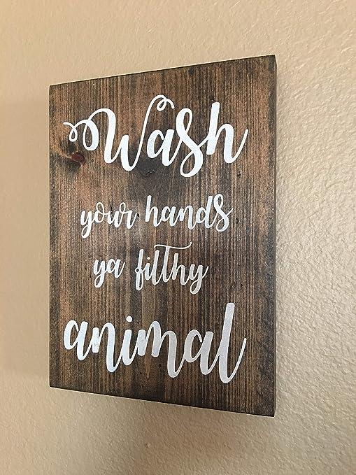 Amazon.com: Letrero decorativo de madera con texto en inglés ...