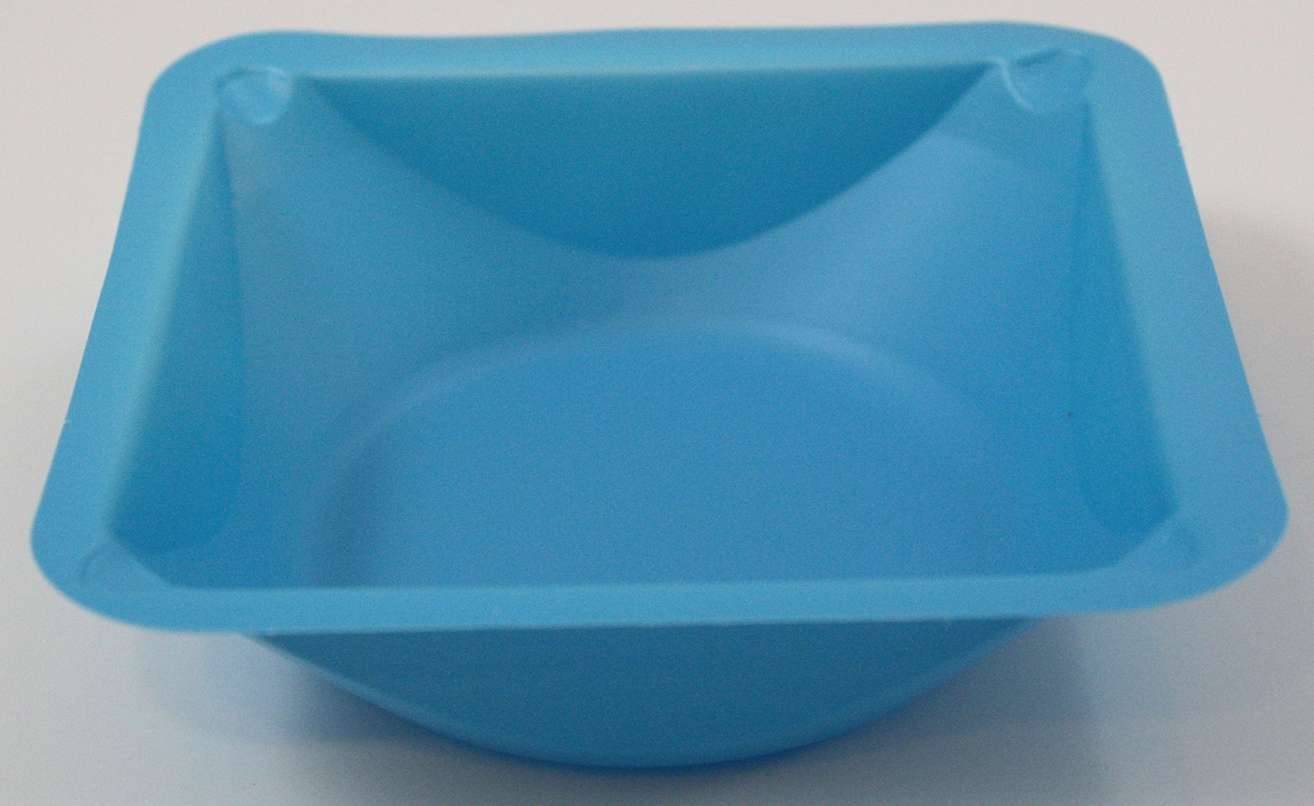 Blue Medium Polystyrene Weigh Boats: Case of 500 Weigh Dishes