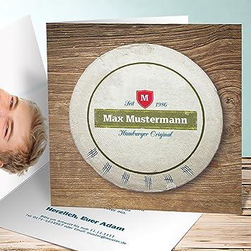 Einladungskarten Zum 30 Geburtstag Bierdeckel 30 100 Karten