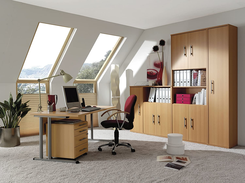 Wellemöbel, Büro Combi+, Verkettungsplatte Verkettungsplatte Verkettungsplatte 90°, 80 x 80 cm, Kirschbaum 27a615