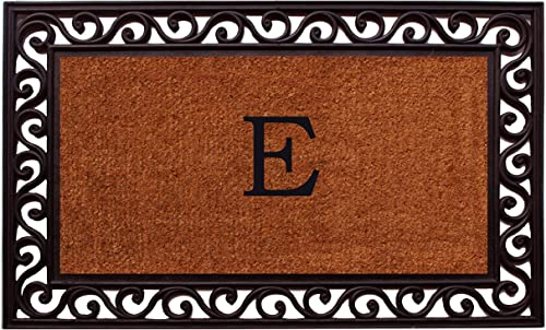 Home More 100061830E Rembrandt Monogram Doormat Letter E