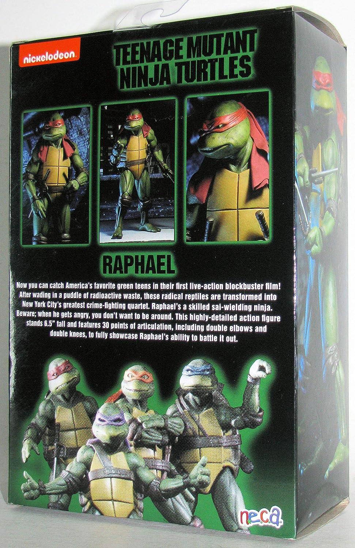 Teenage Mutant Ninja Turtles 90s Movie Raphael 6.5-inch Action Figure by NECA Reel Toys 2019 GameStop Exclusive /…