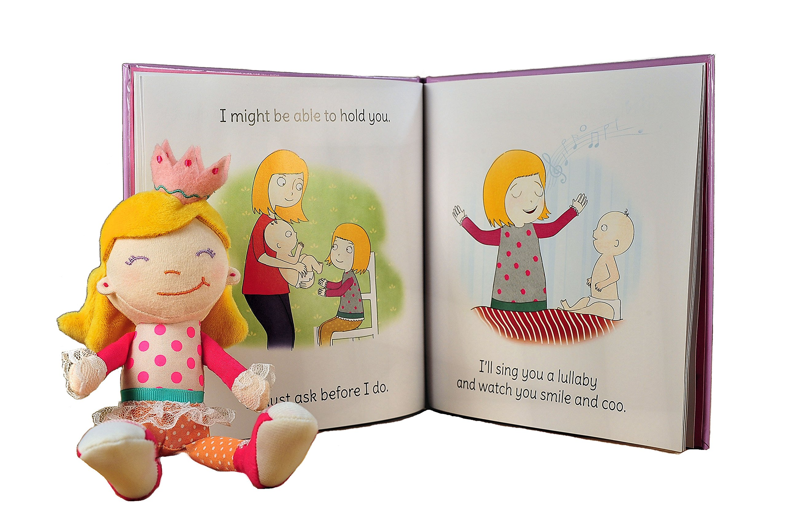 Tickle & Main Big Sister Gift Set- I Hereby Crown You Big Sister Book, Doll, and Child Size Crown by Tickle & Main (Image #8)
