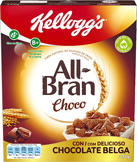 Kelloggs All-Bran Choco Cereales - 375 g: Amazon.es ...
