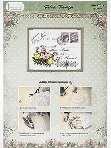 Dress My Craft Fabric Transfer Sheet 24X34cm-Bunch, Bunch Of Soft Roses