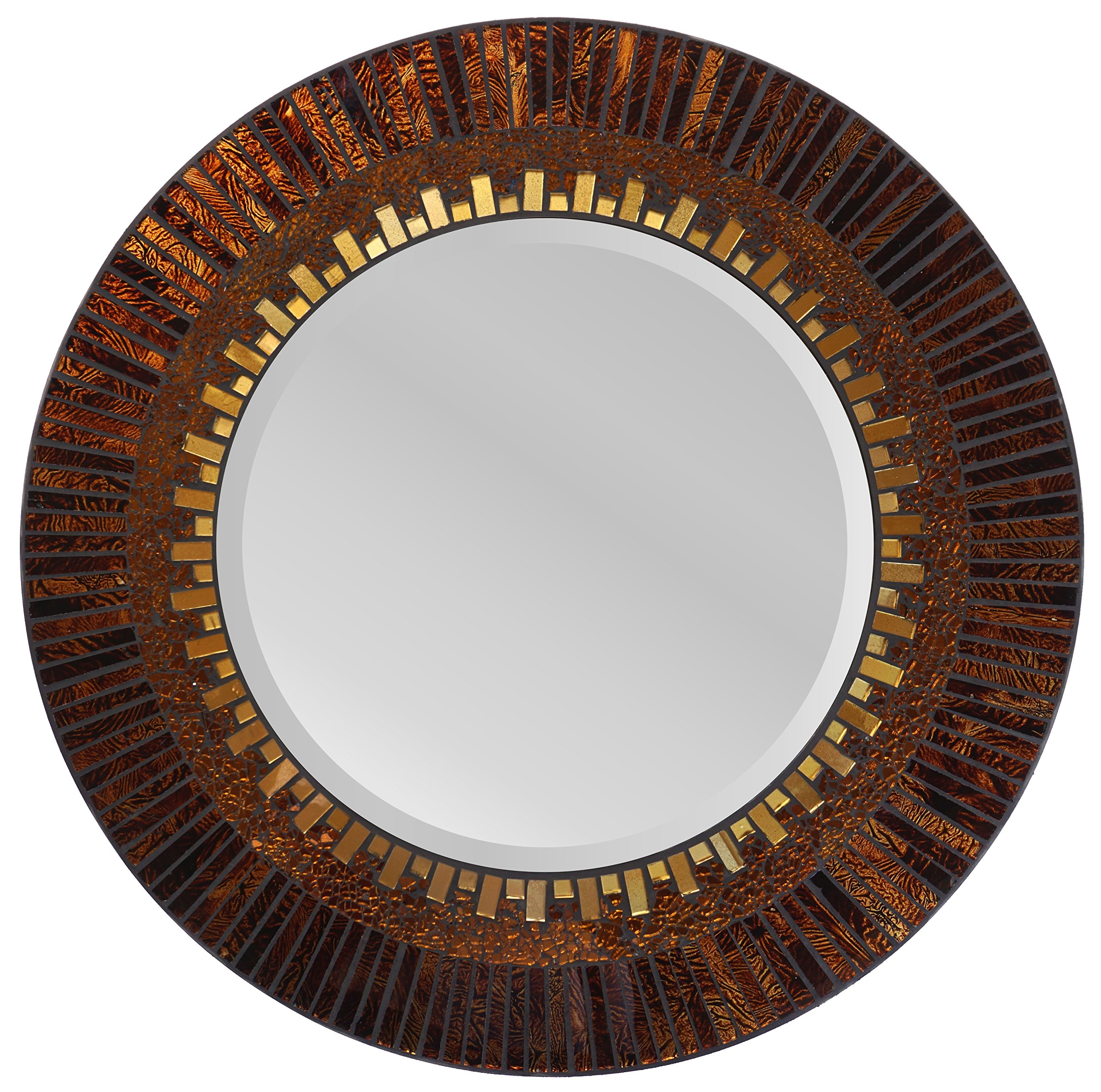 LuLu Decor, Amber Sunshine Wall Mirror 23.50'' (LP328)