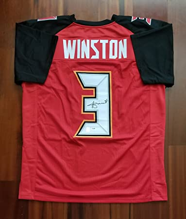 Jameis Winston Autographed Signed Jersey Tampa Bay Buccaneers PSA ... 1fefacaba